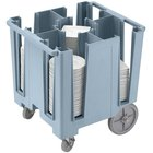 Cambro DCS950401 Slate Blue Versa Dish Caddy with Vinyl Cover - 5 Column