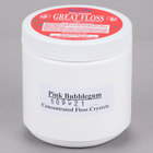 Great Western Great Floss 1 lb. Container Pink Bubble Gum Cotton Candy Concentrate Sugar   - 12/Case