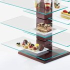 Cal Mil 831-SQ Square Glass Stand Shelf for 79152 – 19 3/4 inch x 10 inch x 1/4 inch