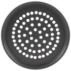 American Metalcraft SPHC2014 14 inch x 1/2 inch Super Perforated Hard Coat Anodized Aluminum Tapered / Nesting Pizza Pan