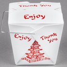 Fold-Pak 26WHPAGODM 26 oz. Pagoda Chinese / Asian Paper Take-Out Container with Wire Handle - 500/Case