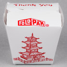 Fold-Pak 08MWPAGODM 8 oz. Pagoda Chinese / Asian Microwavable Paper Take-Out Container - 450/Case