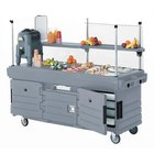 Cambro CamKiosk KVC854191 Granite Gray Vending Cart with 4 Pan Wells