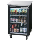 Beverage-Air BB24HC-1-FG-B 24 inch Black Food Rated Glass Door Back Bar Cooler