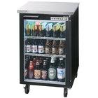 Beverage Air BB24GF-1-B-LED 24 inch Black Food Rated Glass Door Back Bar Cooler - 7.8 Cu. Ft.