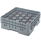 Cambro 20S1114151 Camrack 11 3/4 inch High Customizable Soft Gray 20 Compartment Glass Rack