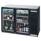 Beverage Air BB48GYF-1-B-LED 48 inch Back Bar Refrigerator with Black Exterior and 2 Glass Doors - 115V