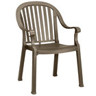 Grosfillex US650037 / US496537 Colombo Bronze Mist Stacking Resin Armchair