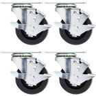 Beverage Air 00C31-034ABB 3 inch Plate Casters for DW49 Series Bottle Coolers - 4 / Set