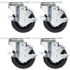 Beverage Air 00C31-034ABB 3 inch Plate Casters for DW49 Series Bottle Coolers - 4/Set