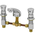 T&S B-2823-02 Deck Mount Easy Install 0.5 GPM Metering Faucet with 8 inch Centers and Push Button Caps