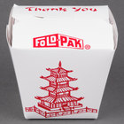 Fold-Pak 08MWPAGODM 8 oz. Pagoda Chinese / Asian Microwavable Paper Take-Out Container - 50/Pack