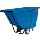 Rubbermaid FG131500DBLUE Dark Blue 1.0 Cubic Yard Tilt Truck (1250 lbs)