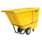 Rubbermaid FG131500YEL Yellow 1.0 Cubic Yard Tilt Truck (1250 lb.)