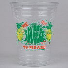 16 oz. Clear We Squeeze to Please Plastic Lemonade Cup - 1000/Case