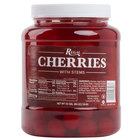 Regal Maraschino Cherries with Stems 1/2 Gallon Jar - 6/Case