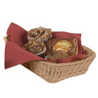 Carlisle 655225 Tan 11 1/2 inch x 8 1/2 inch Woven Rectangular Basket - 6/Case