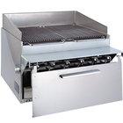 Bakers Pride CH6-J Natural Gas 36 1/2 inch 6 Burner Cajun Style Radiant Charbroiler - 108,000 BTU