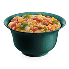 Tablecraft CW3140HGNS 5.5 Qt. Hunter Green with White Speckle Cast Aluminum Tulip Salad Bowl
