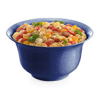 Tablecraft CW3140BS 5.5 Qt. Blue Speckle Cast Aluminum Tulip Salad Bowl
