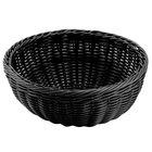 Carlisle 655303 Black 9 inch Woven Round Basket - 6/Case