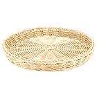 Carlisle 655406 Tan 11 inch Woven Round Basket - 6/Case