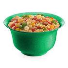 Tablecraft CW3140GN 5.5 Qt. Green Cast Aluminum Tulip Salad Bowl