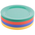 GET NP-10-MIX Diamond Mardi Gras 10 1/2 inch Narrow Rim Round Melamine Plate, Assorted Colors   - 12/Case