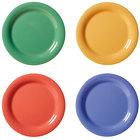 GET NP-10-MIX Diamond Mardi Gras 10 1/2 inch Narrow Rim Round Melamine Plate, Assorted Colors   - 12/Case