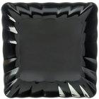 Carlisle 792603 17 inch Black Square Medium Scalloped Tray - 4/Case