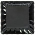 Carlisle 792403 14 1/2 inch Black Square Small Scalloped Tray - 4/Case