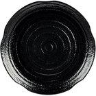 Carlisle 4451803 Terra 18 inch Black Round Scalloped Textured Platter - 12/Case