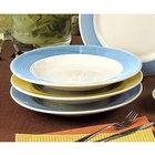 CAC R-125BLU Rainbow Pasta Bowl 30 oz. - Blue - 12/Case