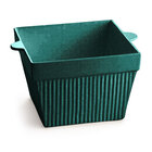 Tablecraft CW1480HGNS 18 oz. Hunter Green with White Speckle Cast Aluminum Square Condiment Bowl