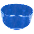 Tablecraft CW3180BS 6.75 Qt. Blue Speckle Cast Aluminum Fruit Bowl
