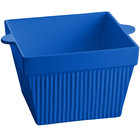 Tablecraft CW1490BL 6.5 Qt. Cobalt Blue Cast Aluminum Square Bowl