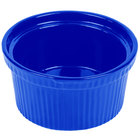 Tablecraft CW1620CBL 1 Qt. Cobalt Blue Cast Aluminum Souffle Bowl with Ridges