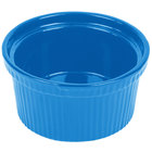 Tablecraft CW1620SBL 1 Qt. Sky Blue Cast Aluminum Souffle Bowl with Ridges