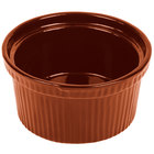 Tablecraft CW1620CP 1 Qt. Copper Cast Aluminum Souffle Bowl with Ridges