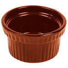 Tablecraft CW1610CP 10.5 oz. Copper Cast Aluminum Souffle Bowl with Ridges