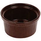 Tablecraft CW1620TC 1 Qt. Terra-Cotta Cast Aluminum Souffle Bowl with Ridges
