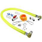 T&S HG-2C-60SK Safe-T-Link 60 inch Coated Gas Connector Hose Kit with Swivel Link Fittings, 90 Degree Elbow, Restraining Cable, Street Elbow, and Ball Valve