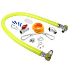 T&S HG-2E-60SK Safe-T-Link 60 inch Coated Gas Connector Hose Kit with Swivel Link Fittings, 90 Degree Elbow, Restraining Cable, Street Elbow, and Ball Valve