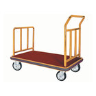Aarco Stainless Steel Brass Finish Luggage Cart - 42 inch x 24 inch x 36 inch