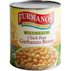 Furmano's #10 Can Organic Chick Peas (Garbanzo Beans) - 6/Case