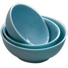 Thunder Group 5975 Blue Jade 1.3 Qt. Round Melamine Serving Bowl - 12/Case