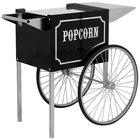 Paragon 3070820 1911 Original Series Black and Chrome Popcorn Cart for 6 oz. and 8 oz. Poppers