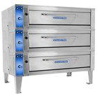 Bakers Pride ER-3-12-5736 74 inch Triple Deck Electric Roast / Bake Oven - 208V, 3 Phase