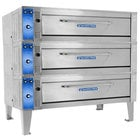 Bakers Pride ER-3-12-5736 74 inch Triple Deck Electric Roast / Bake Oven - 208V, 1 Phase