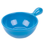 Tablecraft CW3370SBL 8 oz. Sky Blue Cast Aluminum Soup Bowl with Handle